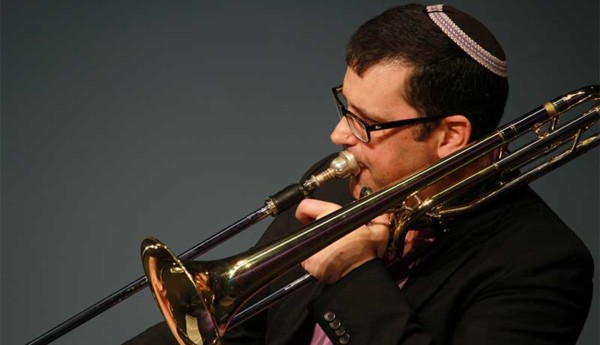 Haim Avitsur Performs on Trombone, Ram's Horn