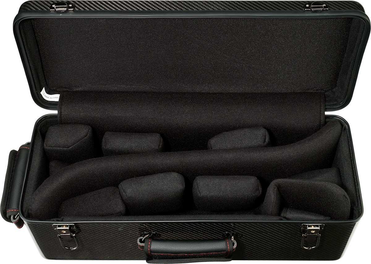 3K Carbon Fiber Double Trumpet Case Interior